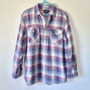Pendleton Surf Mens Plaid Button Down L